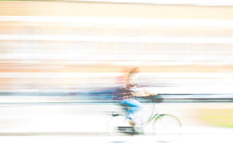 Radfahrerin gewischt