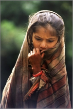 Mädchen, Gorepani, Nepal
