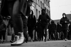 Gegendemonstranten nach der Querdenker-Demo