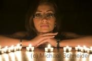 Verträumt bei Kerzenschein